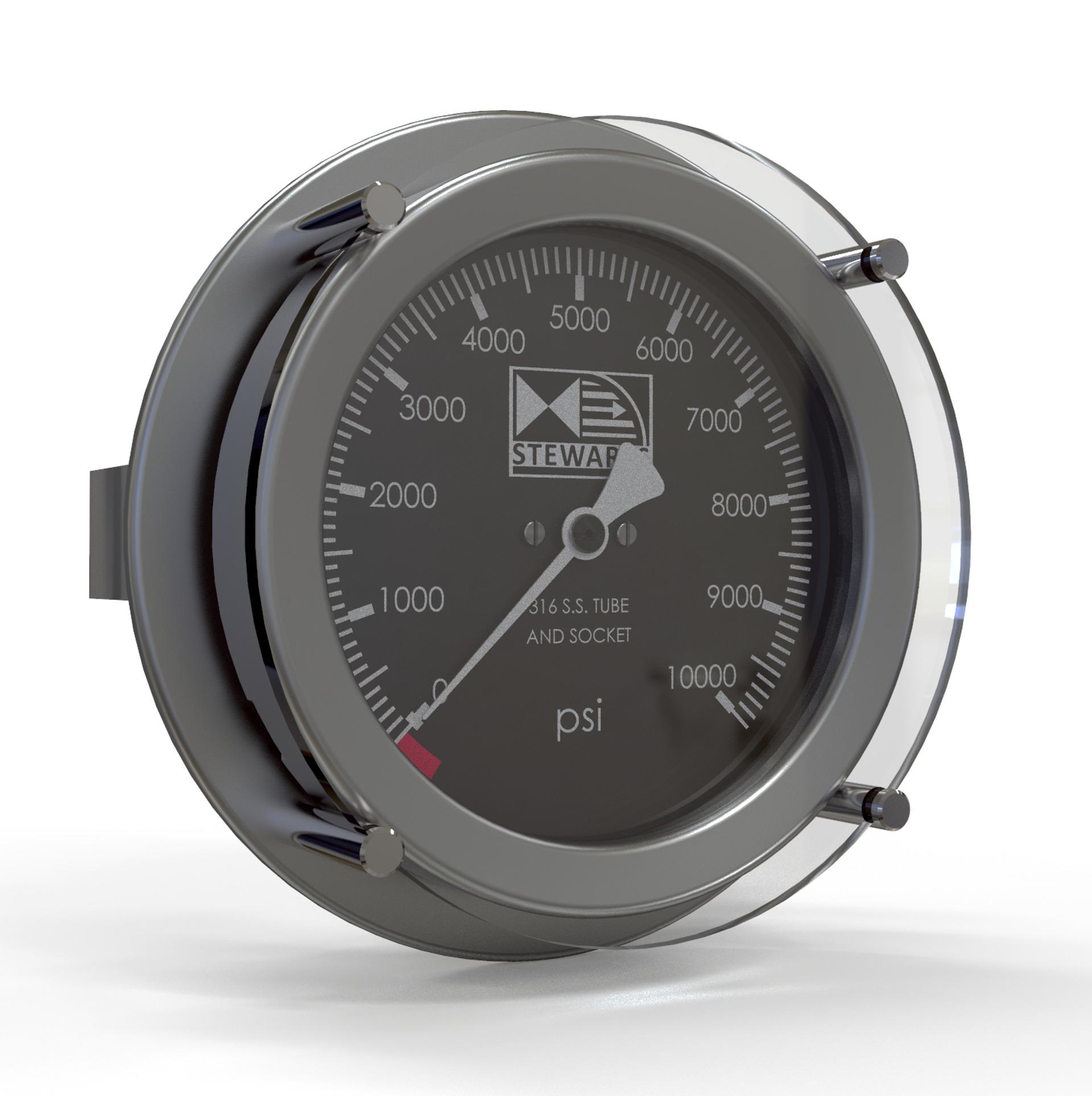 Subsea pressure gauge manometer ROV2 model 8024 AG