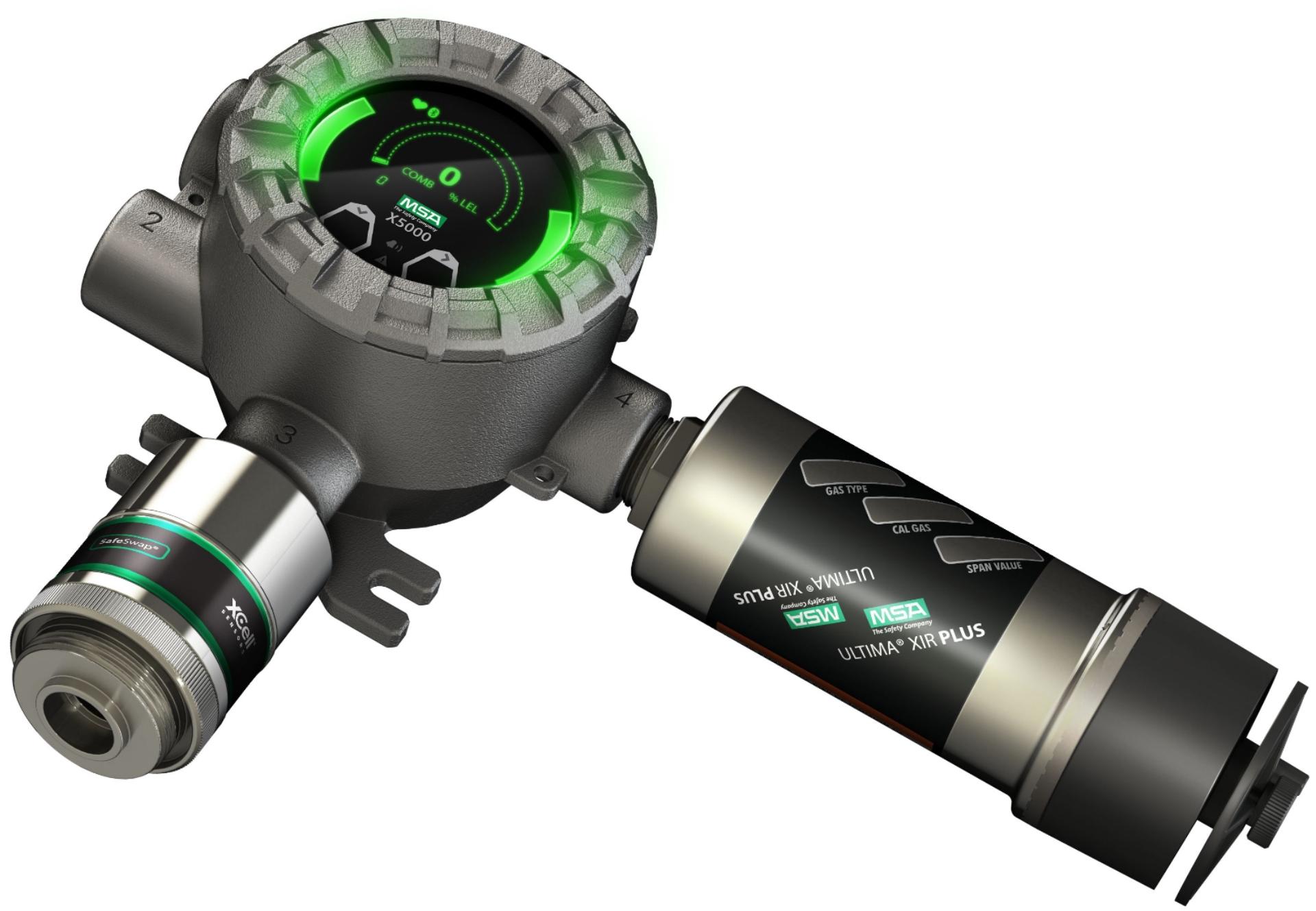 MSA Safety gassdetektor Gas detector Transmitter Gas leak detector MSA Ultima X5000 DUAL sensor Gasslekkasje gassmler gassalarm portable portabel