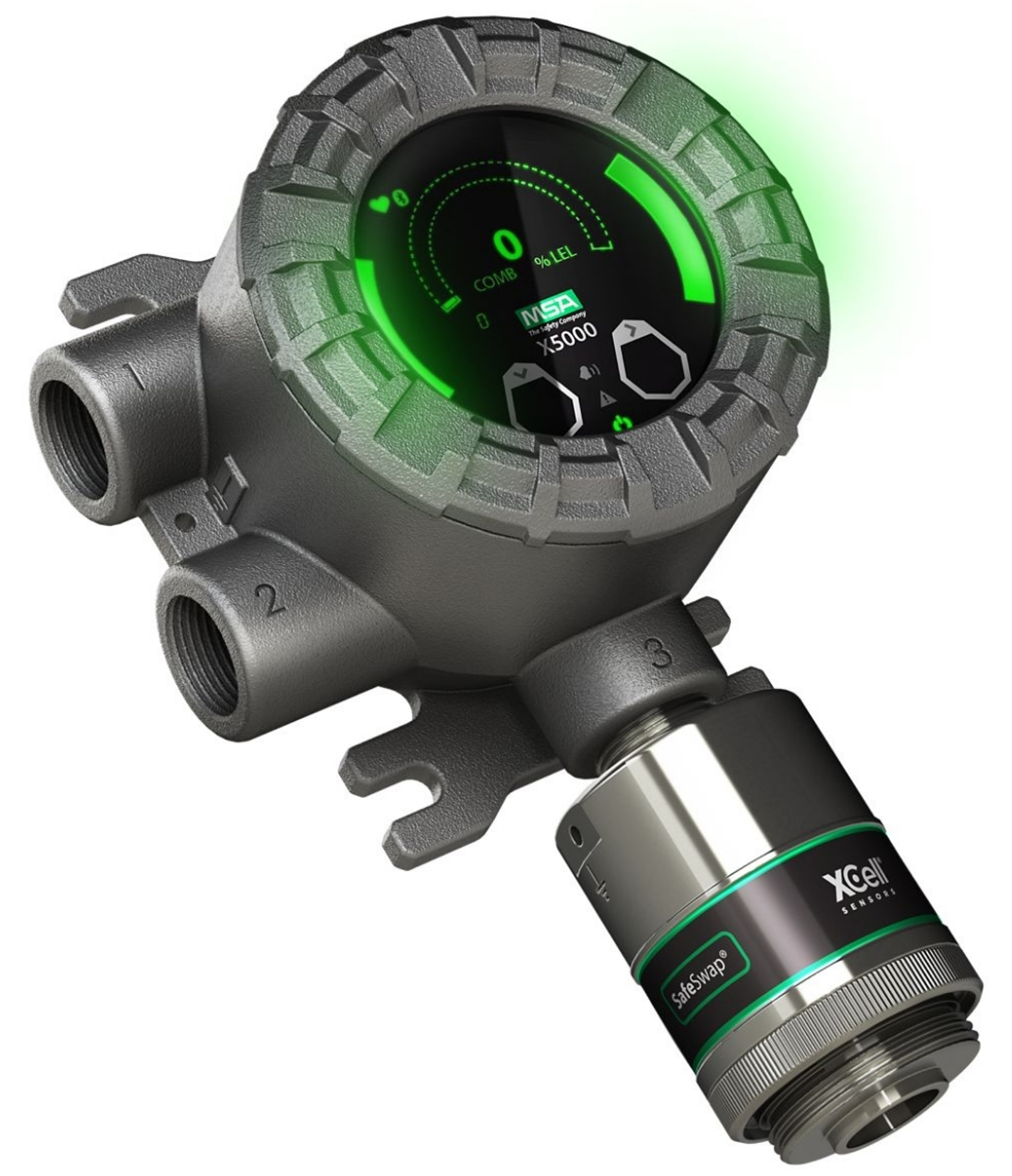 Gassdetektor Gas detector Transmitter Gas leak detector Gasslekkasje gassmler gassalarm portable portabel MSA Safety Ultima X5000