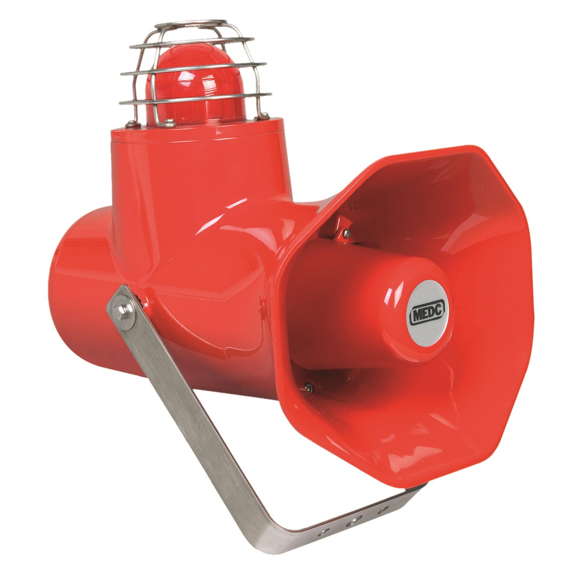 MEDC manuell melder akustisk brann flamme alarm Manual call point fire beacon sounder Flammedetektor Cooper Eaton