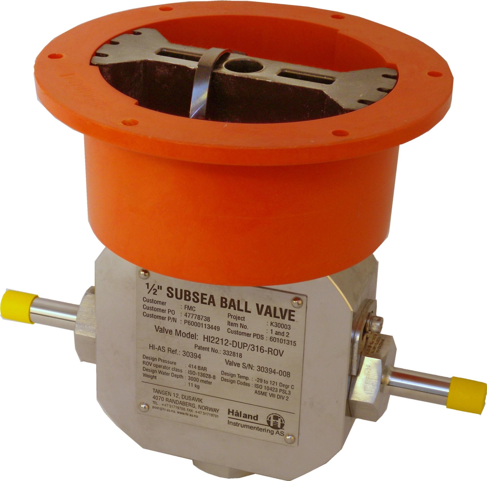 Subsea ROV operated kuleventil ballvalve elastomerfree Manifold wellhead tree High pressure temperature Manufacturer