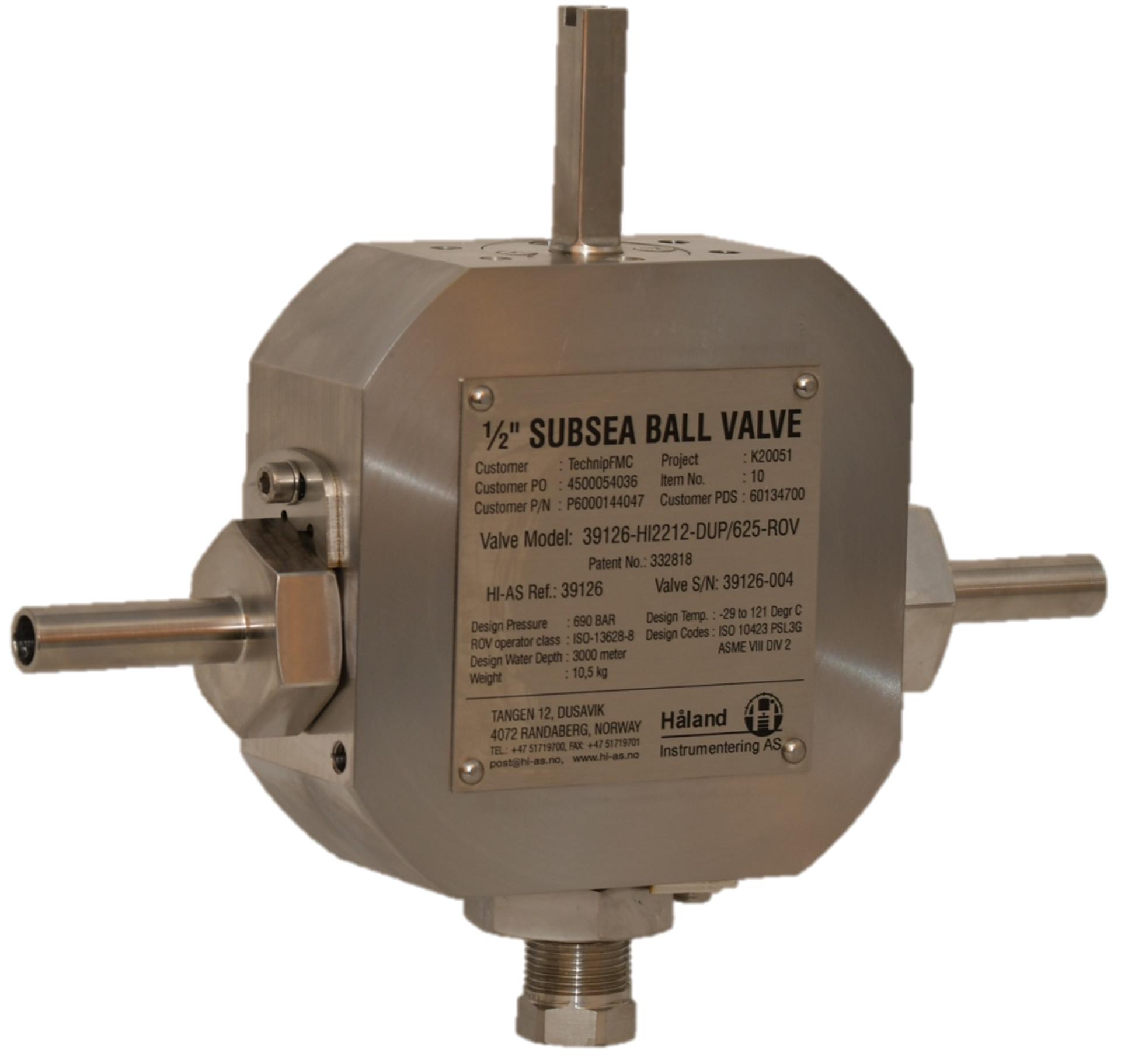 subsea ROV operated kuleventil ballvalve elastomerfree manifold wellhead tree subsea high temperature pressure