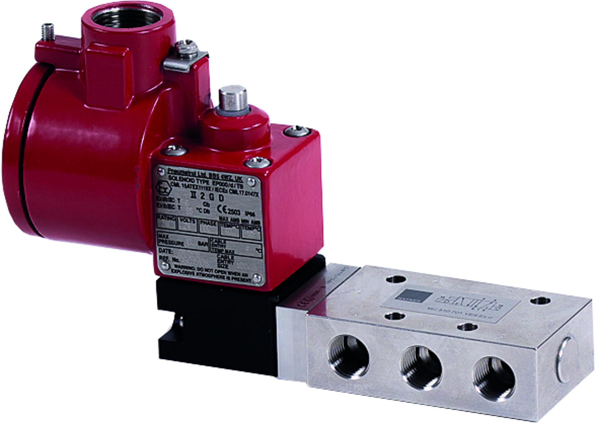 magnetventil pneumatisk ventil solenoid valve Ex kontrollventiler