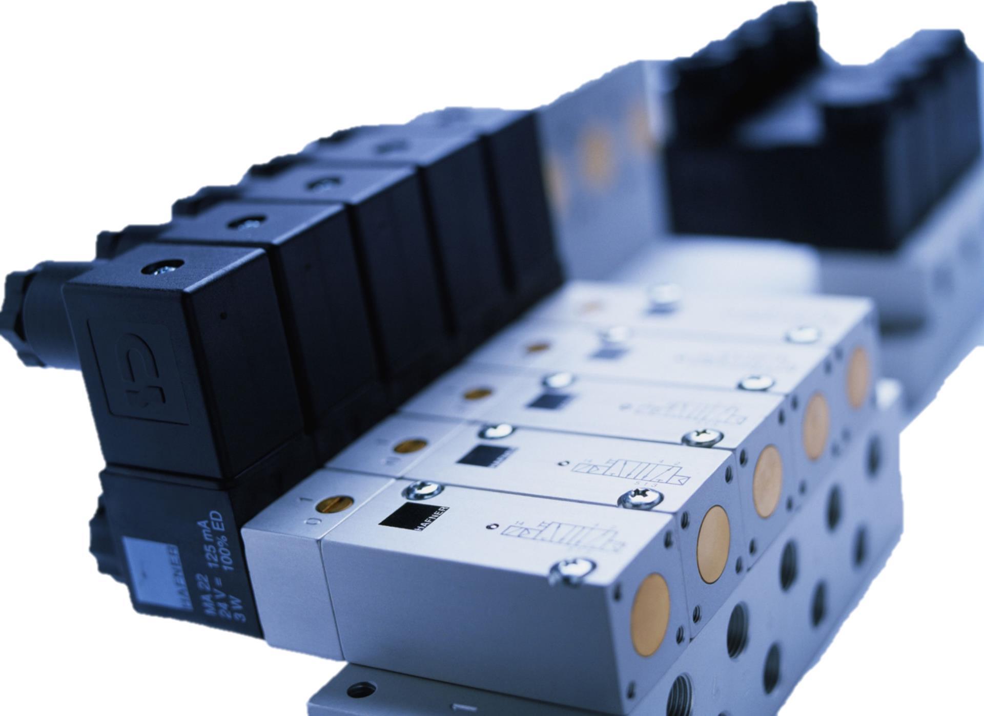 magnetventil pneumatisk ventil solenoid valve manifold kontrollventiler Hafner forhandler Norge