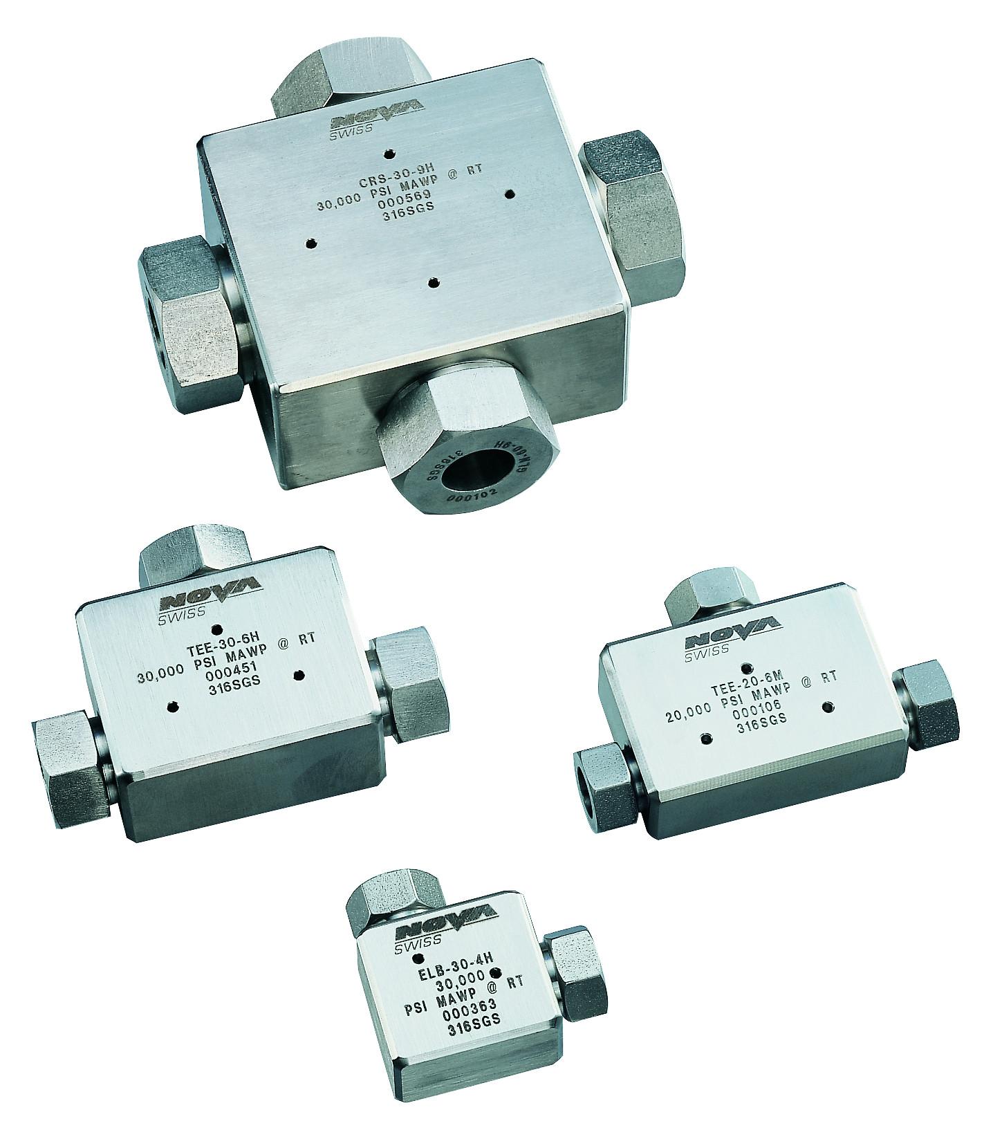 Fitting High pressure Nåleventiler needle valve høytrykk high pressure DBB Block Bleed kobling Nova Swiss instrument ventil systems adapter connector