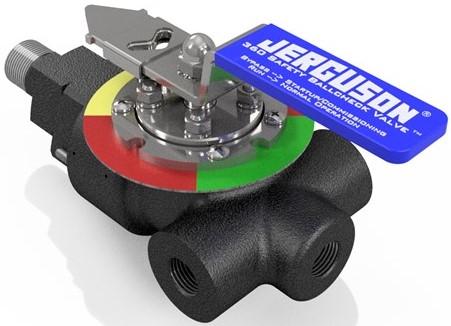 level gauge nivåmåler tank seglass nivåglass safety ball check valve til se-glass for nivåmåling indikator ring farge Jerguson