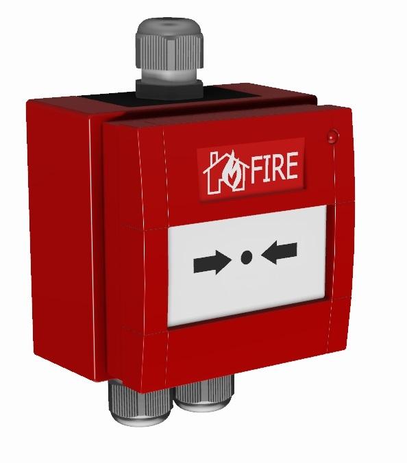 Brannalarm system firealarm detectors flamme detektor offshore FPSO platform Addressable Manual Call Point Manuell melder