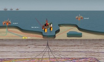 Subsea ROV operated kuleventil ballvalve illustrasjon felt