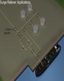 Ventiler beskytter mot trykkbølger rørledninger lasting lossing anti-surge valve Flexflo Illustrasjon