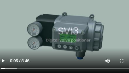 Video positioner ventilstiller SVi 3 Masoneilan valves animasjon